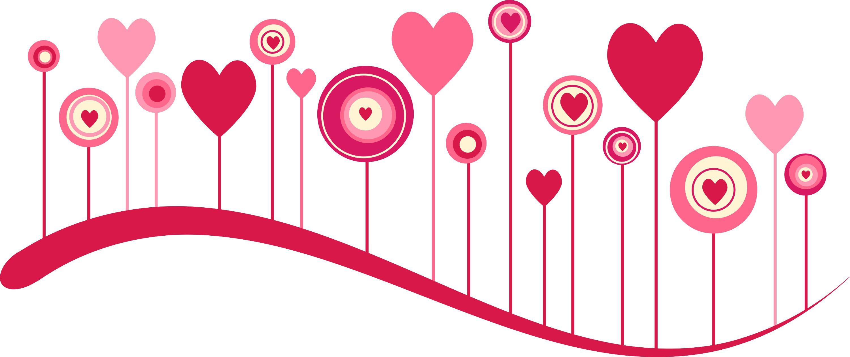 Clip Art Line Of Hearts : Image gallery heart line border